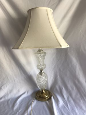 Vintage Glass Lamp with square shade for Sale in Richmond, VA