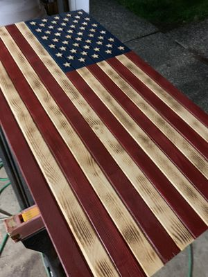 """Handmade - Custom Red, White & Blue American Flag - 37"""" wide for Sale in Oregon City, OR"""