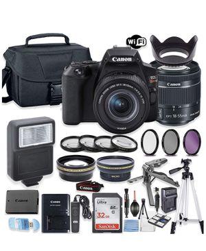 Canon EOS Rebel SL3 DSLR Camera Bundle with Canon EF-S 18- 55mm STM Lens + 32GB Sandisk Memory + Camera Case + Digital Flash + Accessory Bundle for Sale in CORNWALL Borough, PA