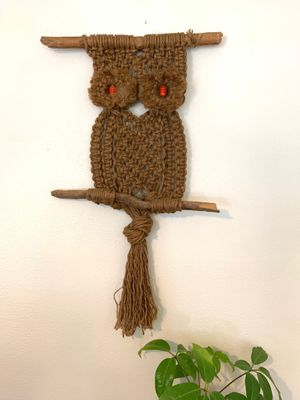 Vintage Macrame Owl for Sale in Portland, OR