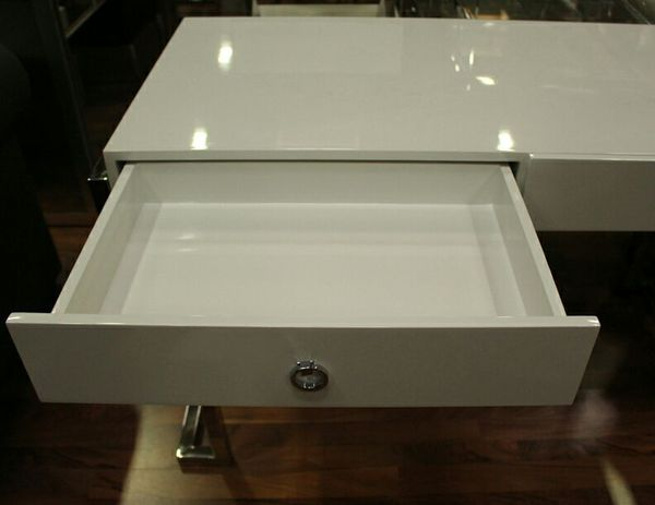 BA213 Computer Desk (Gold or Silver plated)