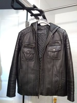Christian Reed New York L leather hooded jacket for Sale in The Bronx, NY