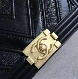 Chanel Chevron Medium Boy Bag Black for Sale in Centreville, VA