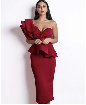 Brand new Burgundy Red evening dress party wedding birthday size S and size M for Sale in Streamwood, IL