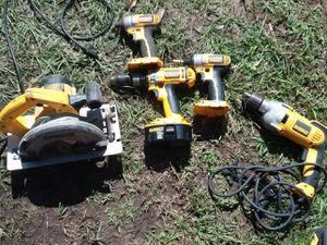 Dewalt 18v impacts x2/ hammerdrill corded/circular saw/ nail gun for Sale in Katy, TX