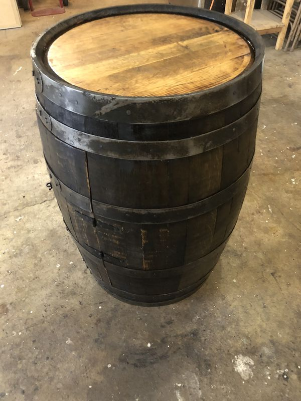 Whiskey Barrel Cabinet