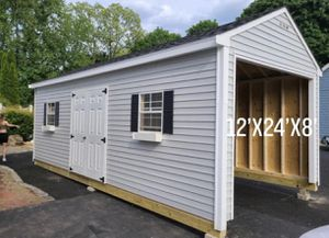 New 12' x 24' x 8' Vinyl Shed Garage for Sale in Westford, MA