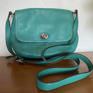 Coach Teal Crossbody Purse for Sale in Norco, CA