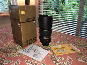 Nikon Nikkor Lens AF-S VR Micro 105mm f/2.8G IF-ED for Sale in Miami, FL