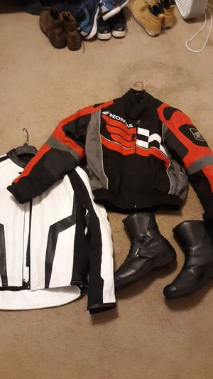 Motorcycle Jacket and boots for Sale in Evergreen, CO
