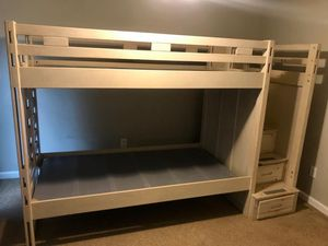 Bunk bed with stairs drawers (no mattresses) for Sale in McDonough, GA