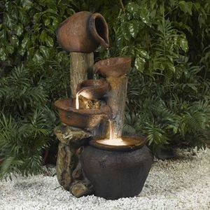 Tree Pot Outdoor Indoor Water Fountain Waterfall Patio Yard Lawn Garden Decor Waterproof Furniture for Sale in Toledo, OH
