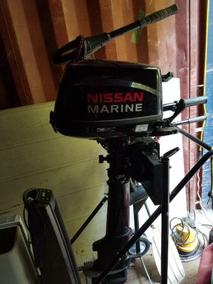 Nissan marine outboard with trolling motor for Sale in Brentwood, CA