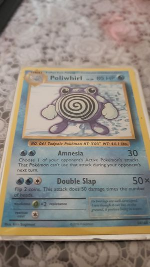 Misprint poliwhirl pokemon card for Sale in San Jose, CA