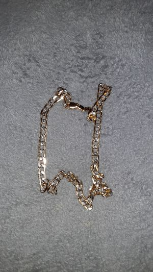 Gold plated iced out necklace for Sale in Fairburn, GA