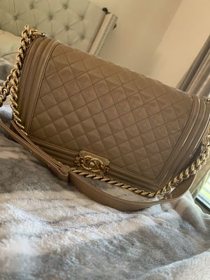 Chanel Glossed Calfskin Leboy New Medium Size for Sale in Houston, TX