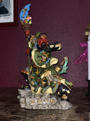 Guan Yu statue- small collectible for Sale in Seattle, WA