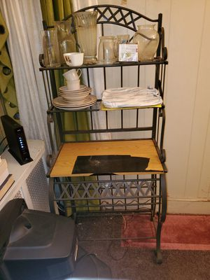 Kitchen & Bakers Rack (black tape to cover some scratches) for Sale in Philadelphia, PA