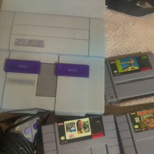 Super Nintendo And 3 Games Complete System for Sale in Phoenix, AZ