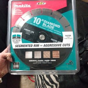 "10"" Diamond Blade Makita Table Saw Blade for Sale in Ontario, CA"