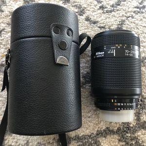 Nikon AF Nikkor 70-200mm 1:4-5.6 Lens W/ Case for Sale in Milpitas, CA