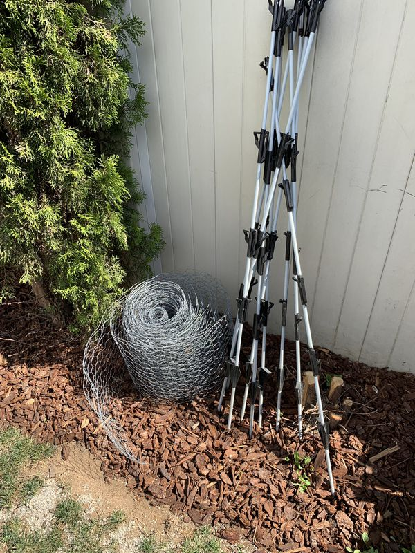 FREE chicken wire and stakes