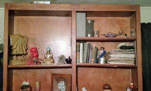 Tall solid wood bookshelf for Sale in Visalia, CA