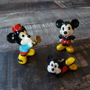 Chipped/Cracked Lot of Three Walt Disney Productions Mickey Mouse Porcelain Figurine 1970s for Sale in Las Vegas, NV