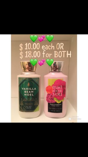 """Bath & Body Works """"Vanilla Bean Noel"""" & """"Mad About You"""" Body Lotion Set for Sale in Magnolia, MS"""