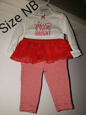 """Carter """"Merry & Bright"""" outfit size NB for Sale in Renton, WA"""