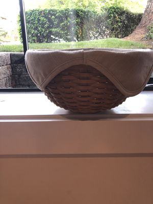 Longaberger 11 inch bowl with liner for Sale in Seattle, WA