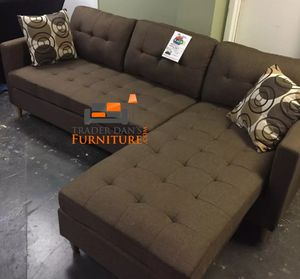 Brand New Brown Linen Sectional Sofa Couch for Sale in Takoma Park, MD