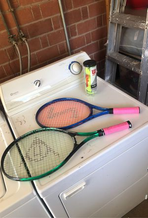 2 tennis rackets and 3 balls for Sale in Mesa, AZ