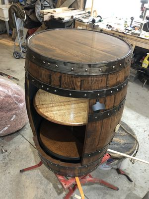 Real whiskey barrel liquor cabinets for Sale in Fremont, OH