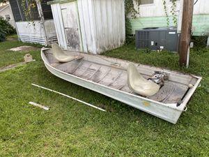 12ft Mirro Jon boat w/ trailer for Sale in MAGNOLIA SQUARE, FL