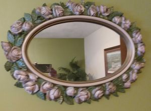 Oval rose mirror for Sale in Jeannette, PA