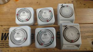 Holiday lights mechanical timers, $5 each for Sale in Riverside, CA