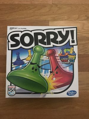 Hasbro board game Sorry board game for fun for Sale in Fountain Valley, CA