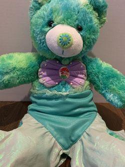 Build A Bear Workshop Blue And Green Tie Die The Little Mermaid Teddy Bear for Sale in Sylmar,  CA