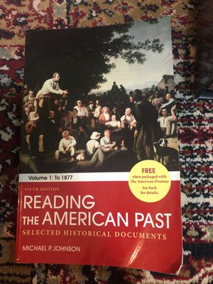 Reading the American Past Textbook for Sale in Federal Way, WA