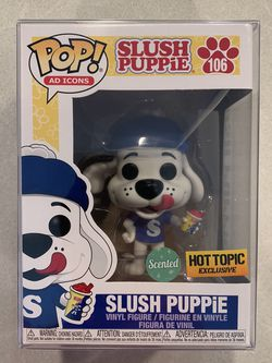 Scented Slush Puppie Funko Pop *MINT* Hot Topic Exclusive ICEE Cherry Ad Icons 106 with protector for Sale in Lewisville,  TX