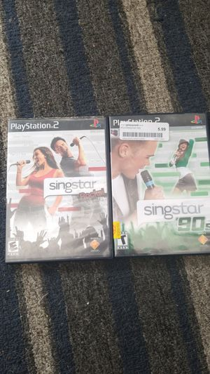 PS2 SING STAR GAMES 90'S AND ROCK for Sale in Glendale, AZ