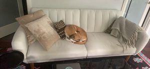 White/gray futon sofa for Sale in Portland, OR