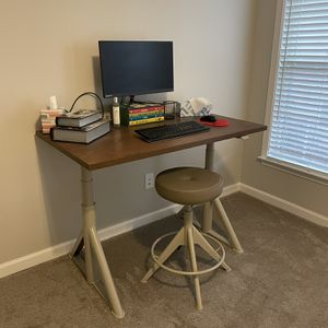Ikea Adjustable Desk And Stool for Sale in Smyrna, GA