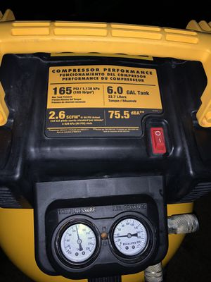 DEWALT DEWALT 6 Gal. 165 PSI Electric Pancake Air Compressor for Sale in Humble, TX