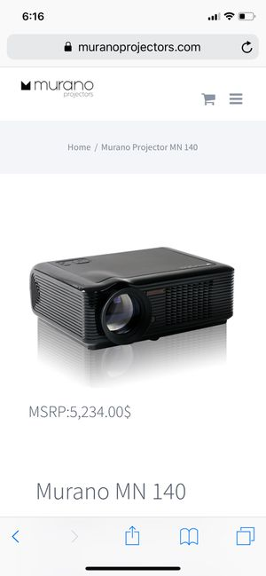 Maurno home/ business projector and screen for Sale in Goddard, KS