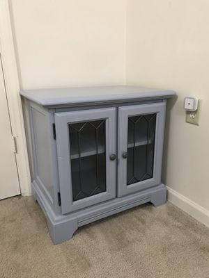 Grey wooden cabinet/nightstand/TV stand for Sale in Purcellville, VA