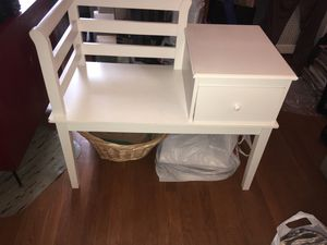 Draw stand with shelf all white for Sale in Queens, NY