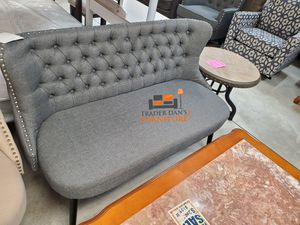 Brand New Grey Linen Upholstered Banquet Bench (New in Box) for Sale in Silver Spring, MD