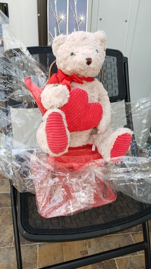 Teddy bear with heart for Sale in Homestead, FL